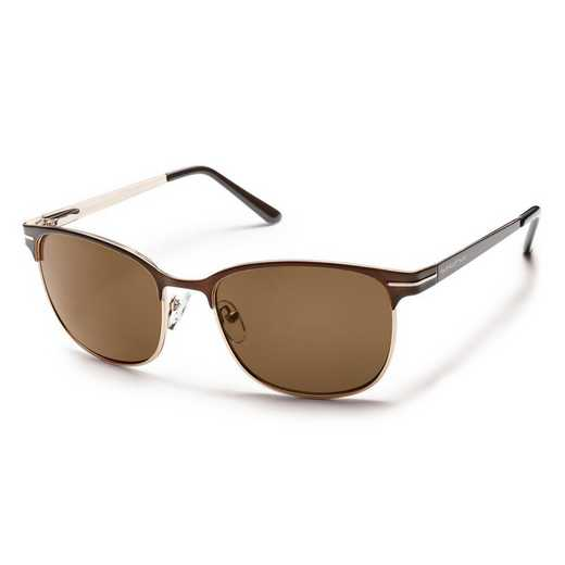 S-CUPPBRBR: Smith Suncloud Causeway Polarized Sunglasses -  BRN/BRN